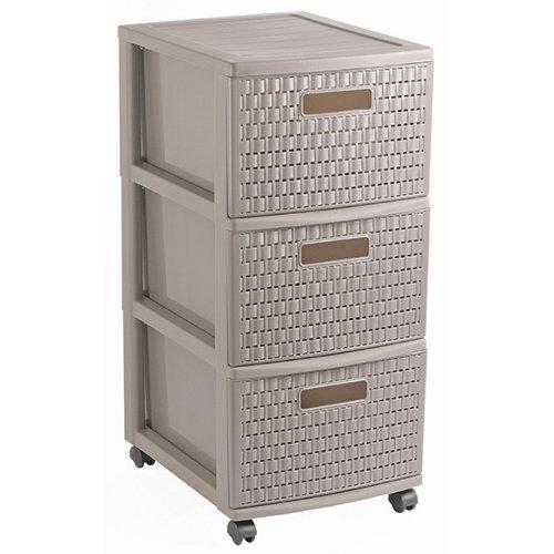 Organizador de tornillos de plástico con 3 cajones de 65x38x30 cm