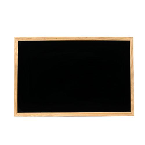 Pizarra con moldura de 60 x 40 cm negro