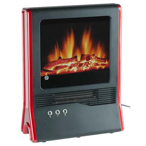Chimenea eléctrica mercatools mercaor lux 2000 w rojo