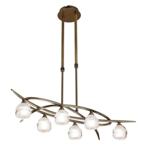 Lámpara de techo led loop marrón 6 luces