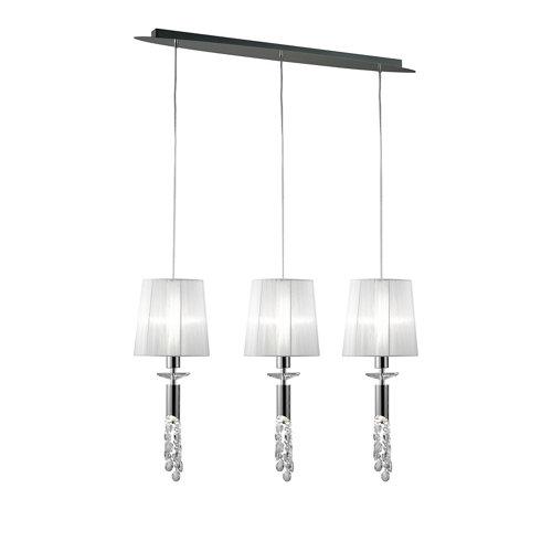 Lámpara de techo tiffany blanca 3 luces