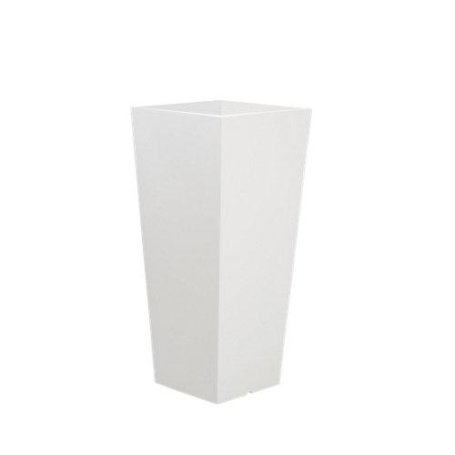 Maceta de polietileno de alta densidad newgarden blanco 26x58 cm