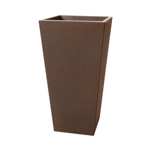 Maceta de polietileno de alta densidad newgarden marrón 26x58 cm