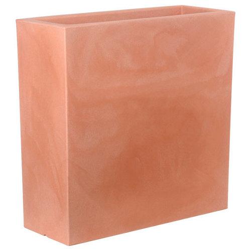 Maceta de polietileno junco terracota 80x80 cm