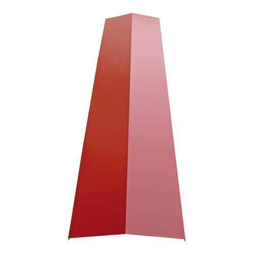 Cumbrera roja sandwich 64x220 cm