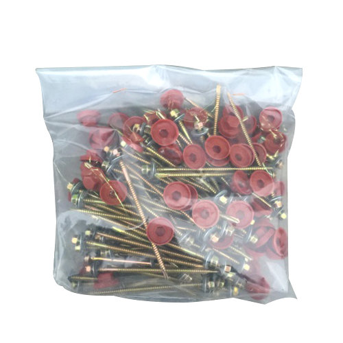 Paquete de tornillos rojo 20x10 cm