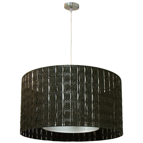 Lámpara de techo malla carbón negra 1 luz