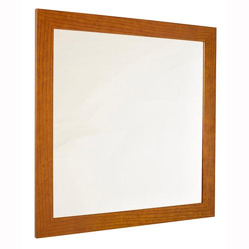 Espejo de baño roma marrón 80 x 80 cm