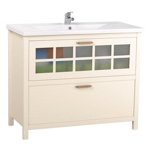 Mueble baño nizza blanco 100 x 45 cm
