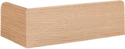 Rodapié roble de MDF con pasacable 8 cm MOD041 · LEROY MERLIN