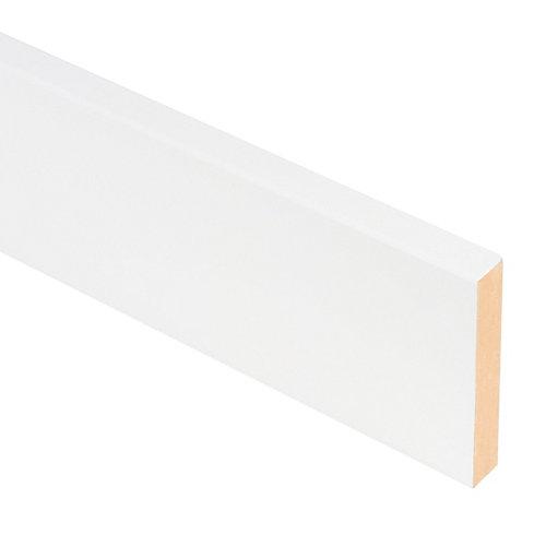 Tapeta de mdf lacada blanca 70x10 mm x 2,70 m (ancho x grueso x largo)