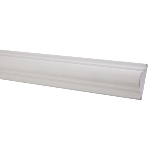 Moldura collarin de poliestireno crudo 40x40 mm x 2,0 m (ancho x grueso x largo)