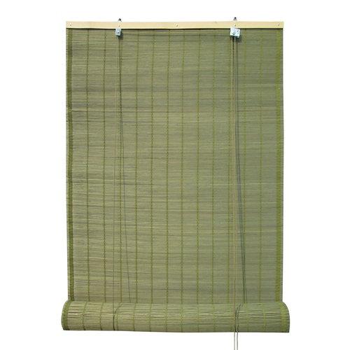 Estor enrollable de bambú verde inspire de 150x230cm