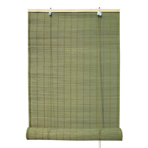 Estor enrollable de bambú verde inspire de 90x230cm