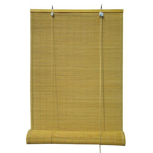 Estor enrollable de bambú amarillo inspire de 120x230cm