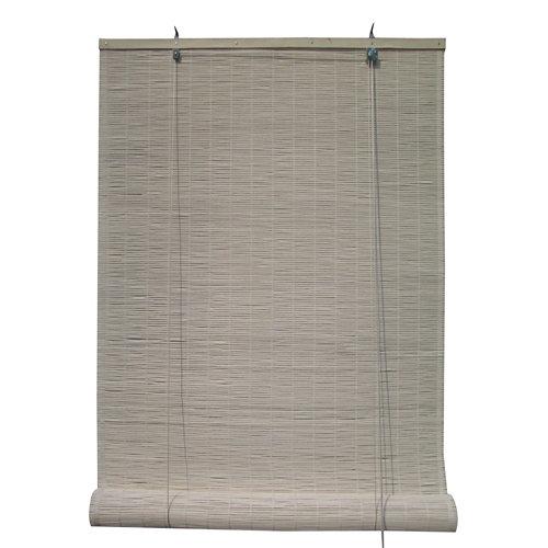 Estor enrollable de bambú blanco inspire de 90x230cm