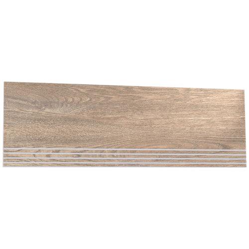 Borde de peldaño porcelánico de 23.3x68.1 legno simple haya c3 antideslizante