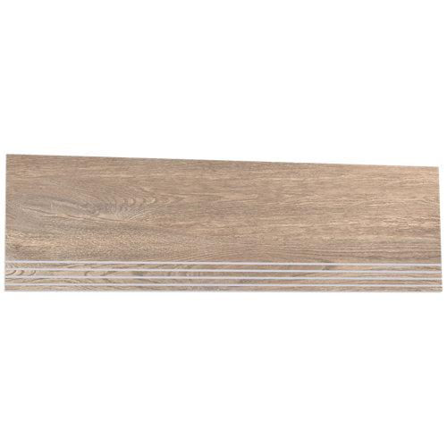 Borde de peldaño porcelánico de 31.6x98.2 legno haya