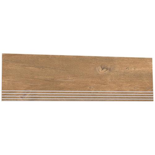 Borde de peldaño porcelánico de 31.6x98.2 legno roble