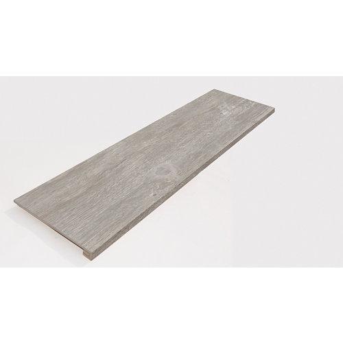 Peldaño porcelánico top 31.6x98.2 legno gris