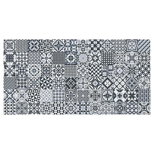 Azulejo cerámico heritage 32x62,5 decorado-black