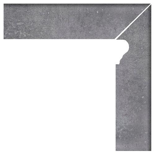 Zanquin derecho 8x33.15 rustic gris