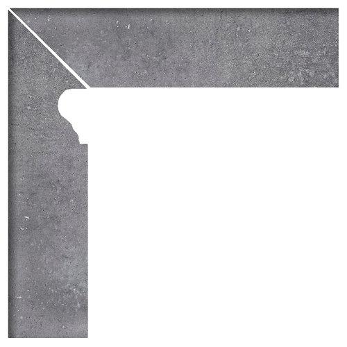 Zanquin izquierdo 8x33.15 rustic gris