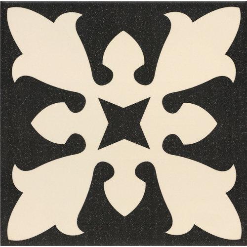 Baldosa cerámica centro sofia 20x20 negro