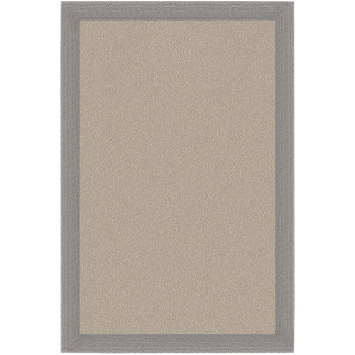 Alfombra crema/ceniza pvc 100 x 150cm
