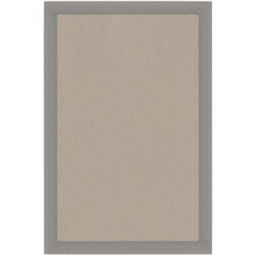 Alfombra teplón crema/ceniza pvc 120 x 180cm