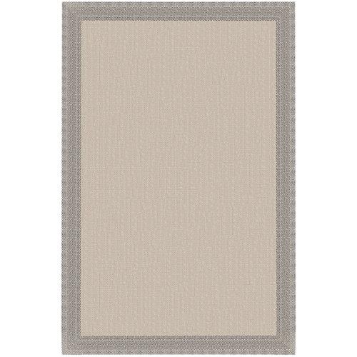 Alfombra teplón natural/crema pvc 120 x 180cm
