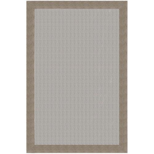 """""""Alfombra Teplom para exterior fabricada en PVC de color beige crema y oro. Medidas: 140 x 200 cm (ancho x largo). Ideal para decorar cualquier zona de la casa con paso frecuente."""