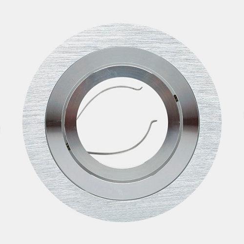 Foco empotrable redondo giove aluminio