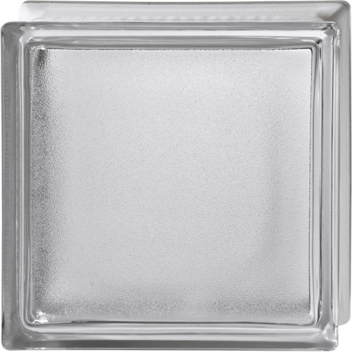 Bloque de vidrio liso neutro 19x19x8 cm