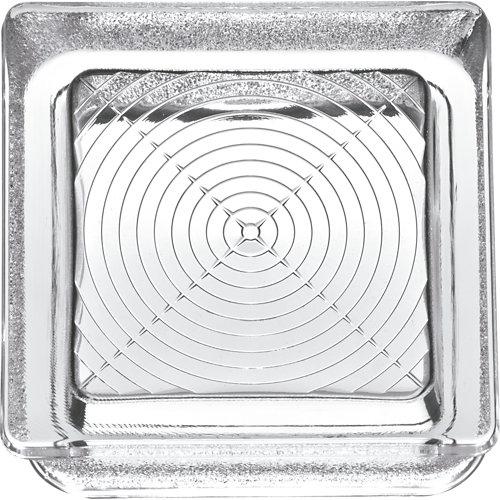 Bloque de vidrio ondulado neutro 14,5x14,5x5,5 cm