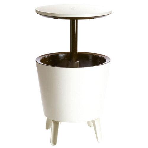 Mesa de jardín baja de resina coolbar blanco de 49.5x50x49.5 cm