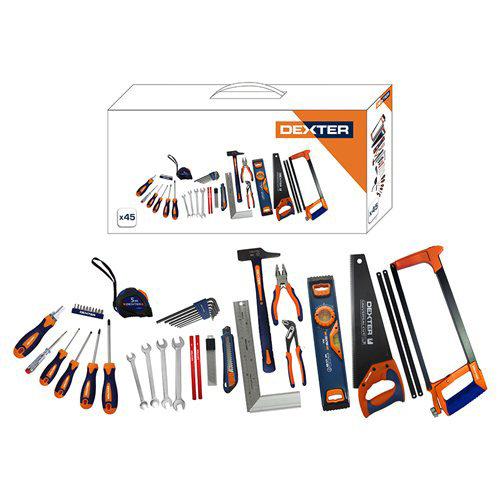 Lote de 45 herramientas dexter