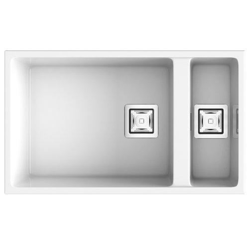 Fregadero de resina rectangular poalgi zie 80x75cm