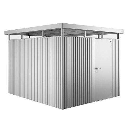 Caseta de metal h5 standard plata de 275x222x315 cm y 8.66 m2