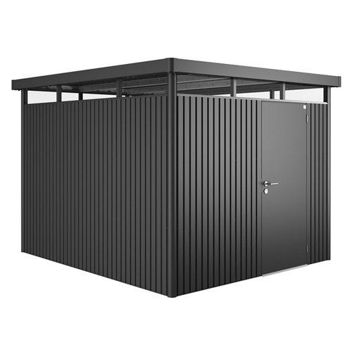 Caseta de metal h5 standard gris de 275x222x315 cm y 8.66 m2