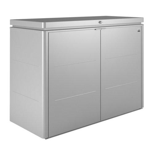 Arcón de exterior de acero highboard plata 160x118x70 cm