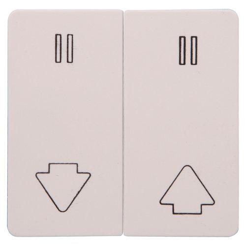 Tapa de interruptor de persianas lexman color blanco