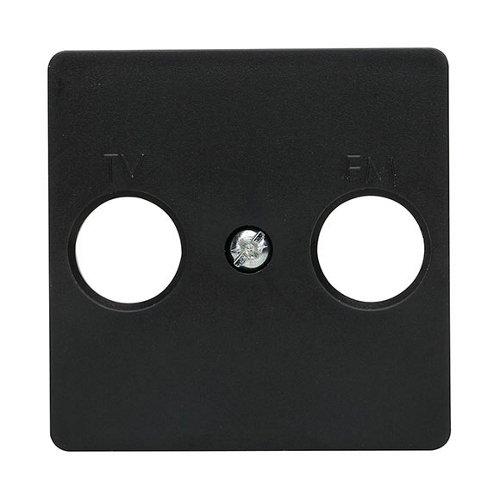 Tapa de toma de tv lexman color negro