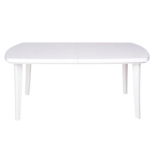 Mesa extensible de resina atlantic blanco de 73x170/225 cm