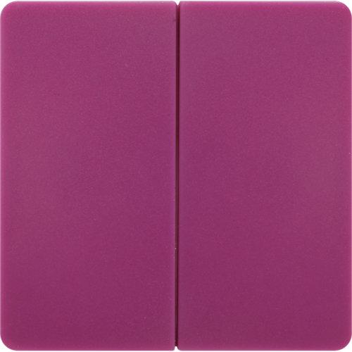 Tecla de interruptor doble lexman color violeta tulipán