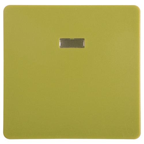 Tecla de interruptor con luz lexman color verde botánico