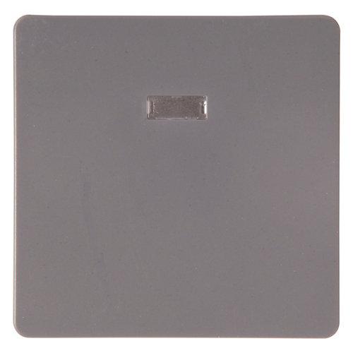 Tecla de interruptor con luz lexman color gris