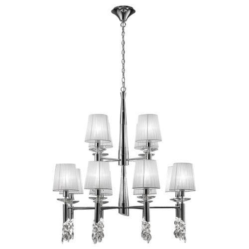 Lámpara de techo tiffany blanca 12 luces