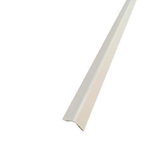 Guardavivo de pvc blanco adhesivo 15x15 mm x 2,60 m (ancho x grueso x largo)