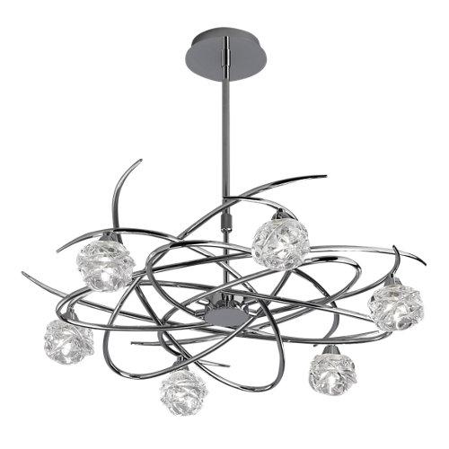 Lámpara de techo led maremagnum gris 6 luces
